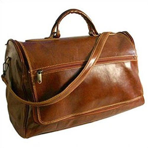 The Classic Vecchio Brown Taormina 21″ Leather Travel Duffel