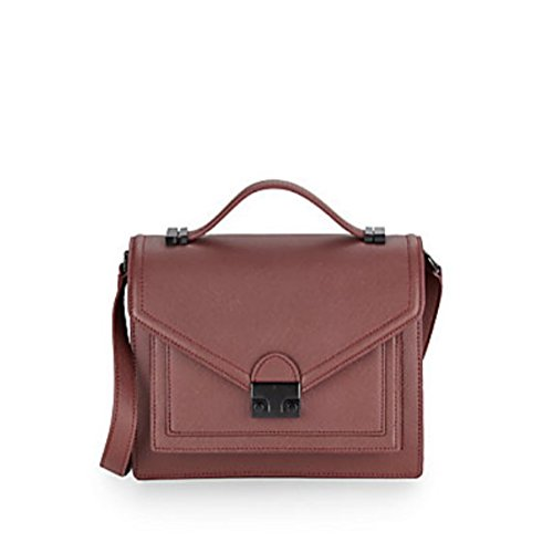 Loeffler Randall Medium Rider Leather Satchel, Maroon