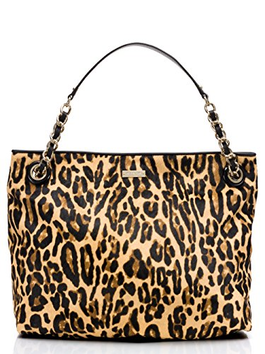 KATE SPADE street car darya 2 Leopard Calf Hair Shoulder Tote Handbag