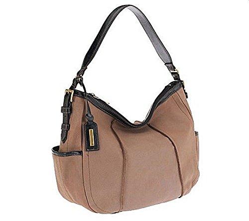 Tignanello Mushroom Vintage Pebble Leather Hobo Shoulder Bag Handbag