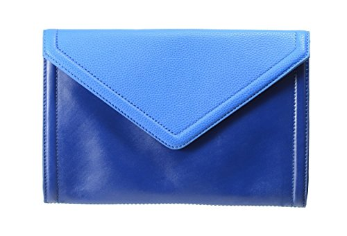 Isaac Mizrahi Designer Handbags: Leather Darcy Clutch/Convertible Shoulder Bag