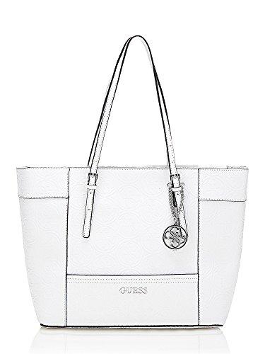 Guess Delaney Medium Handbag White