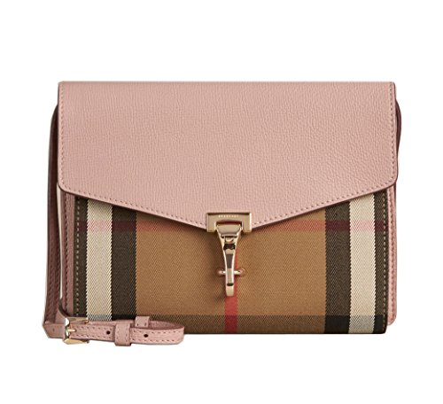 Burberry Small Leather House Check Crossbody Bag – Pale Orchid