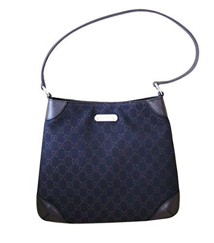 Gucci Brown Denim Hobo Handbag Shoulder Bag 196140 1086