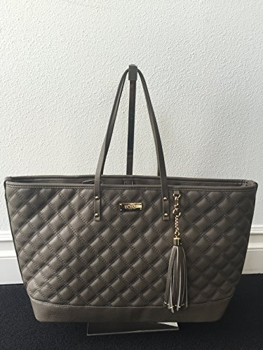 BCBG PARIS Handbag Quilted tote Bag,Stylish Bag, Regular Size, 2014/2015 Collection[Apparel],Available on different Colors (TAUPE)