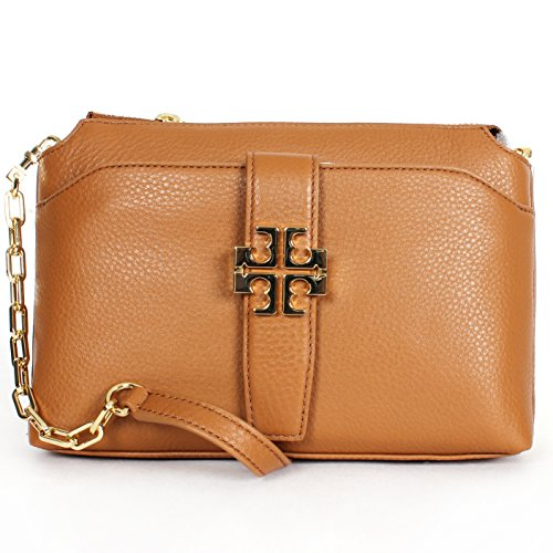 Tory Burch Meyer Chain Crossbody in Bark Leather