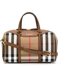 Burberry The Medium Alchester House Check Leather Satchel – Tan