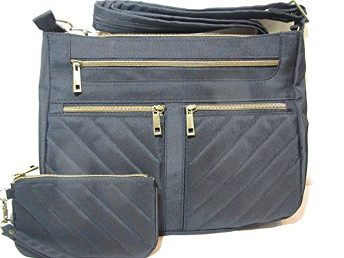 Travelon Anti-Theft Crossbody and RFID ID Pouch Set (Black)