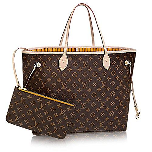 Authentic Louis Vuitton Neverfull GM Monogram Canvas Mimosa Handbag Article:M40992