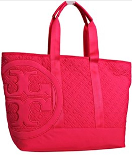 Tory Burch Marion Quilted Island Pink Large Tote Bag