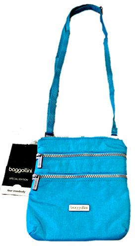 Baggallini Special Edition Tour Crossbody, Aqua Blue