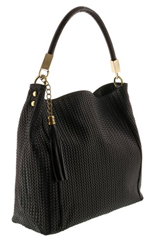 HS2070 GRAZIA Leather Hobo Shoulder Bag