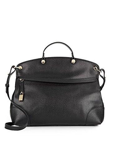 Furla Nicole Piper Large Saffiano Leather Tote, Black