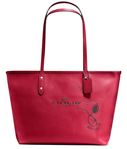 Coach X Peanuts Snoopy, City Zip Tote, Classic Red Calf Leather, F37273