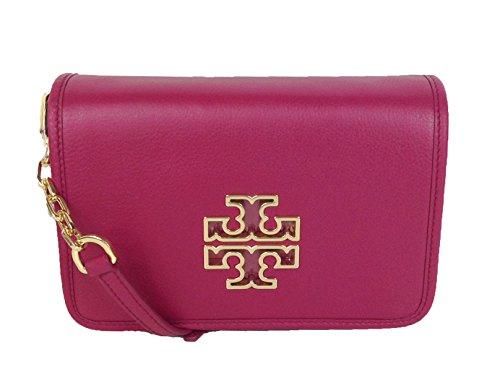 Tory Burch Britten Combo Clutch Crossbody Bag, Raspberry