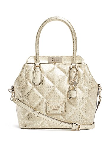 GUESS Women's Ophelia Metallic Turn-Lock Satchel