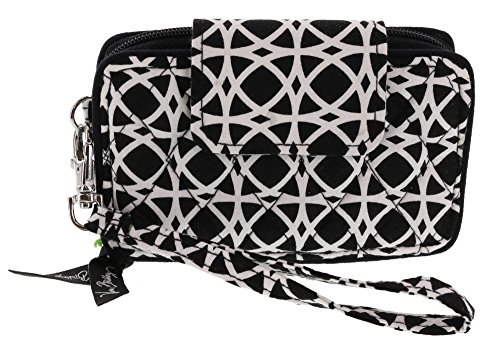 Vera Bradley Smartphone Wristlet Wallet in Night and Day Geo