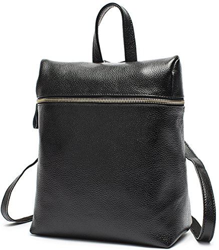 Heshe® New Cow Leather Fashion Women's Simple Preppy Style multifunctional Backpack Shoulder Bag Handbag For Ladies