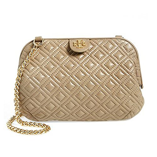 Tory Burch Quilted Small Chain Shoulder Bag French Gray