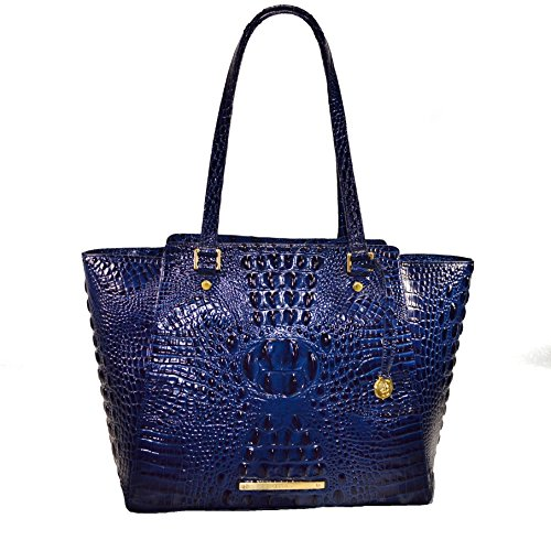 Brahmin Tori Tote Navy Melbourne Emb Leather Purse