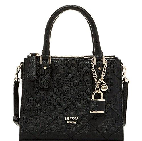 GUESS Ophelia Petite Girlfriend Crossbody Satchel Tote Bag Handbag, Black