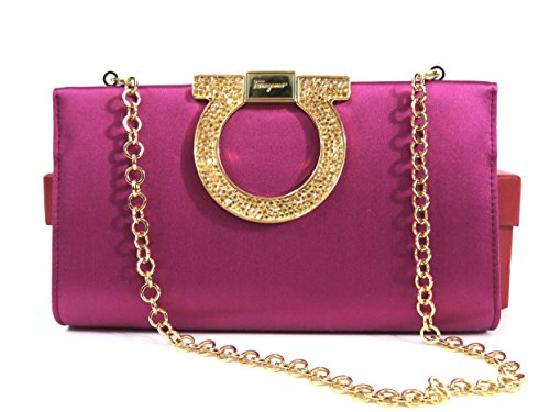 Salvatore Ferragamo Musetta Satin Convertible Clutch