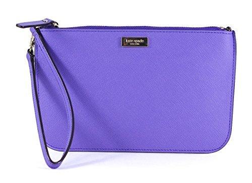 Kate Spade Lolly Newbury Lane Aster Purple Leather Wristlet Wallet