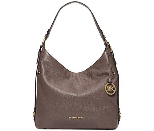 MICHAEL Michael Kors Bedford Belted Large Shoulder Bag (Cinder/Gold)