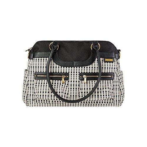 JJ Cole Satchel Diaper Bag, Black/Cream