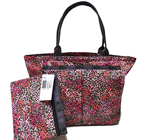 Lesportsac Small Everygirl Tote Lavender Fields Pink Grey Tote New