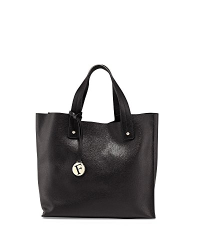 FURLA Musa Saffiano Leather Tote Bag, Black, One Size