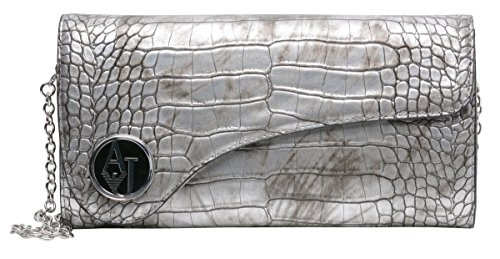 Armani Jeans Women's Leather Handbag BW21B Silver