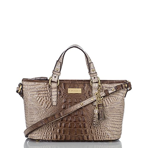 Brahmin Mini Asher Amaretto Melbourne Satchel Crossbody
