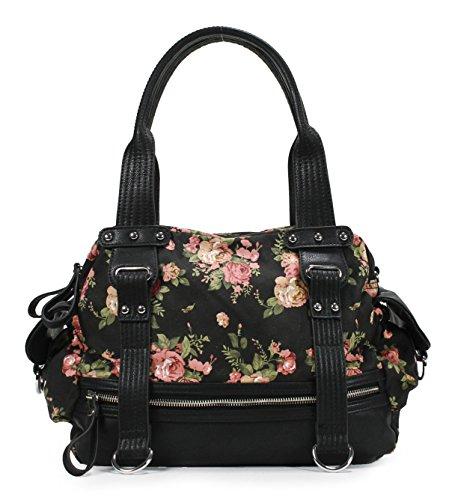 Scarleton Front Zip Floral Shoulder Bag H1762