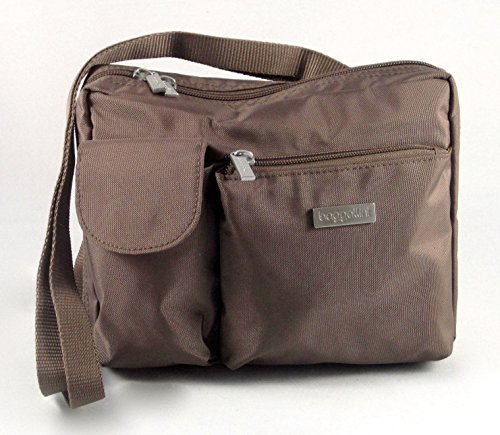 Baggallini Large Wallet Crossbody/ Shoulder Travel Bag- Coffee