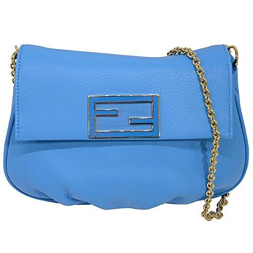 Fendi 'Fendista' Pouchette Baby Leather Baguette Chain Handbag 8m0276 Shoulder Bag