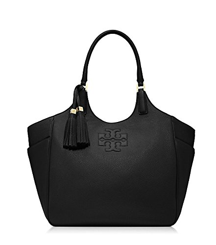 Tory Burch Thea 41149725 Genuine Leather Black Women's Tote Bag $495