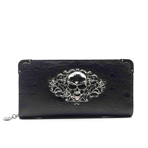 ZENTEII Women Faux Pu Synthetic Leather Skull Purse Wallet