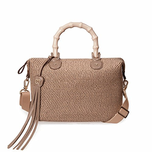 Eric Javits Designer Women's Handbag Squishee Capri Bag (Bark)