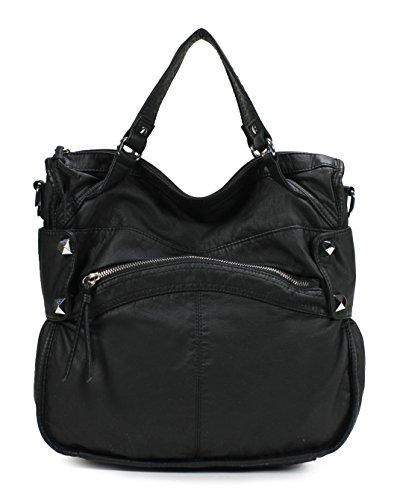 Scarleton Soft Washed Accent Studded Shoulder Bag H1788