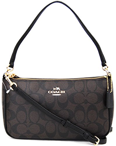 Nwt Authentic Coach Boxed Brown Black Clutch Purse Msrp F37137