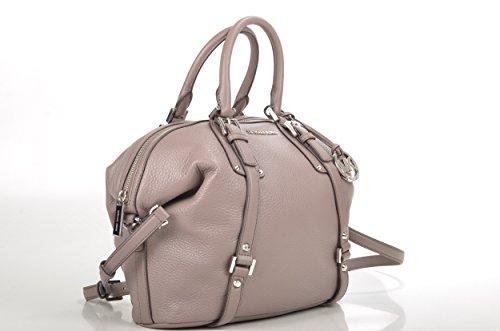 Michael Kors Bedford Belted Medium Satchel Leather Taupe Bag