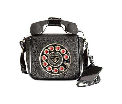 Betsey Johnson Womens Phone Crossbody Black