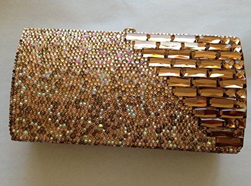Swarvoski Crystal Topaz Handmade Evening Shoulder Bag