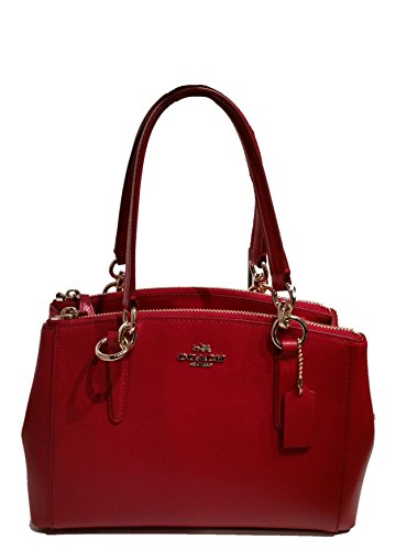 Coach Christie Crossgrain Leather Handbag RED F36704