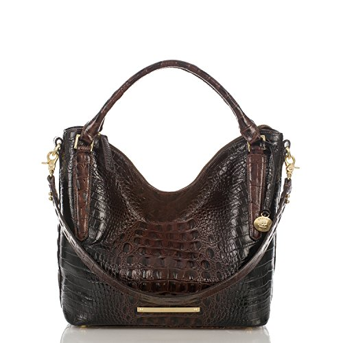Brahmin Norah Cocoa Melbourne Leather Shoulder Bag Hobo