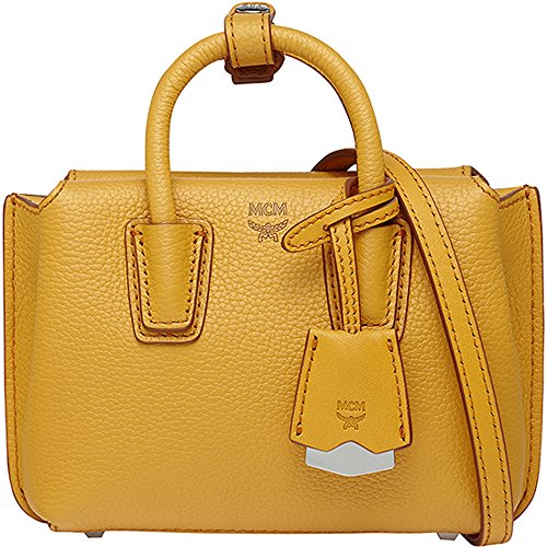 2016 SS MCM Authentic MILLA X-Mini Tote Bag – Radiant Yellow MWT6SMA24YR