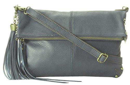 Lucky Brand Del Rey Blue Foldover Crossbody Handbag