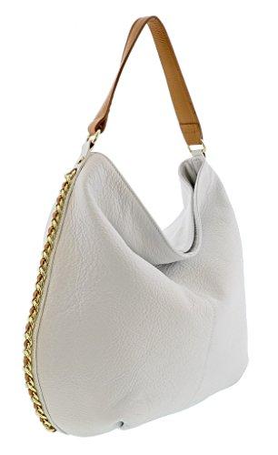 HS2015 VOLETA Leather Hobo Shoulder Bag