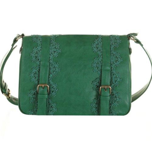UK Darling Dakota Green Emerald LG Messenger/Crossbody Handbag(bs13-153)-$99